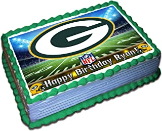 Green Bay Packers NFL Personalized Cake Topper Icing Sugar Paper 1/4 8.5 x 11.5 Inches Sheet Edible Frosting Photo Birthday Cake Topper (Best Quality Printing)