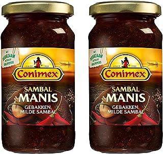 Conimex Sambal Manis, Authentic Indonesian Recipe, 2 jar pack, 6oz/200g each