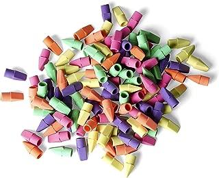 Neliblu Neon Pencil Top Erasers Bulk Pack 120 Assorted Colors Pencil Eraser Caps