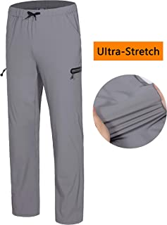 Men's Stretch Quick Dry Ankle Pants with Drawstring Lightweight for Training Jogging Running Exercise Sports Travel Hiking