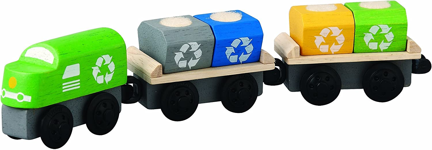 Plan Toys Plancity Push And Pull Recycling Train