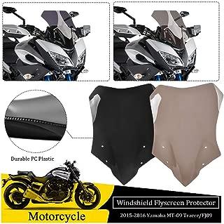 FATExpress for 2015 2016 Yamaha MT FJ 09 Motorcycle Accessories Double Bubble Windshield Windscreen Wind Shield Screen MT-09 FJ-09 MT09 FJ09 Tracer 15-16 (Black)