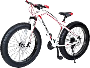 Aster Iron 21Speed Fat Bike - White Red 26 Inch