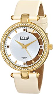 Burgi Casual Watch Analog Display Swiss Quartz for Women BUR104WTG