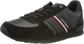 Tommy Hilfiger Herren Iconic Runner Leather Mix Sneaker
