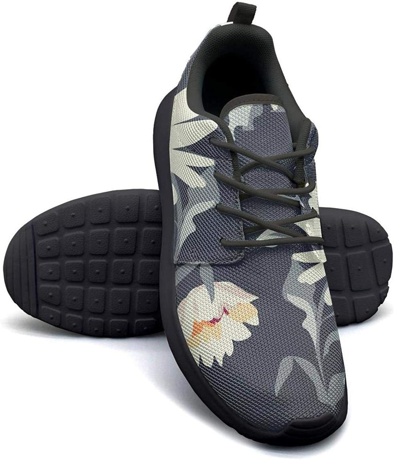 CHALi99 Breathable Woman Lightweight Mesh shoes Tropical Floral Daisy Sneakers Workout Shock Absorbing