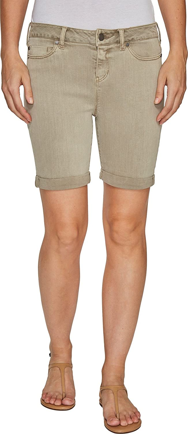 Liverpool Womens Corine RolledCuff Walking Shorts in Pigment Dyed Stretch Slub Twill in Pure Cashmere
