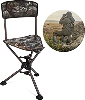 kemimoto 360°Tripod Swivel Hunting Chair with Backrest,...