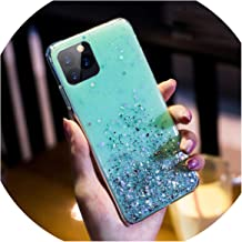 Bling Star Glitter Soft TPU Phone Cases for iPhone 11 Pro 11Pro XS Max XR X 8 7 6 6S Plus 10 Shimmering Powder Transparent Cover,for iPhone 6,Sky Blue