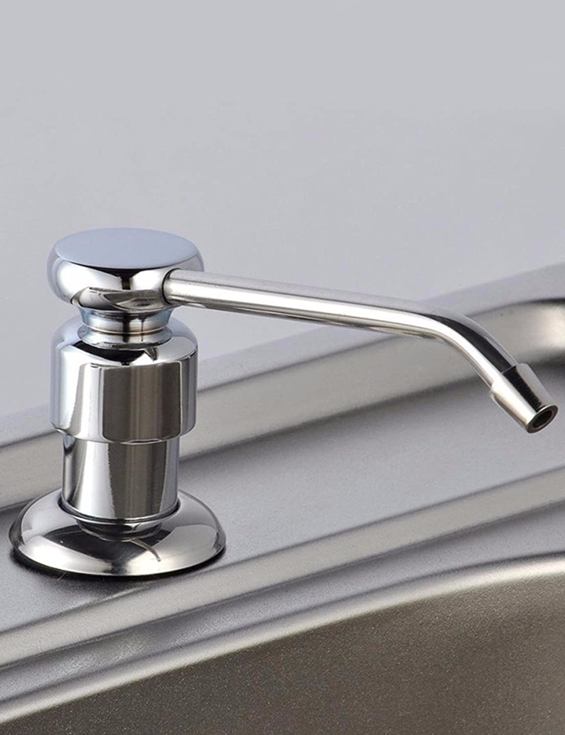 Commercial Single Lever Pull Down Kitchen Sink Faucet Brass Constructed Polished Manual Soap Dispenser Kitchen Manual Plumbing Hardware Bathroom Kitchen Faucet