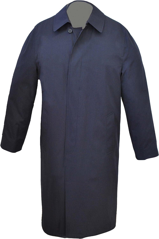 Newport Harbor Mens Navy Rain Wear Long Trench Coat Style # 760/260MT