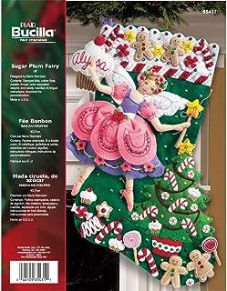 sugar plum fairy christmas stocking