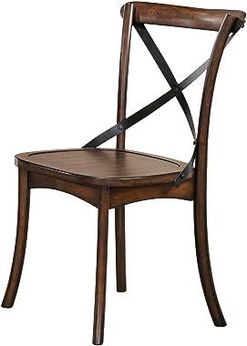 ACME Furniture 73032 Kaelyn Dark Oak Side Chair (Set of 2)