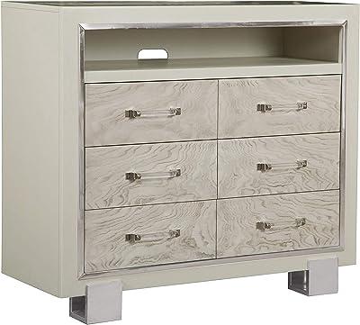 Right2Home Cydney Media Chest Storage Cabinet, White
