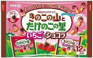 明治 きのこたけのこ袋いちご&ショコラ 138g