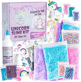 Unicorn Slime Kit for Girls - #1 Best Christmas Gift, Ultimate DIY Slime Making Kit and Add Ins to Make Rainbow Unicorn Slime, Crystal Unicorn Slime, and Unicorn Poop Slime, Ages 6-12