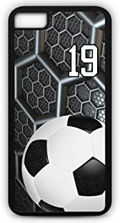 iPhone 8 Phone Case Soccer SC038Z by TYD Designs in Black Rubber Choose Your Own Or Player Jersey Number 19