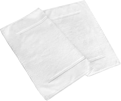 "Shower-Tub Bath Mats, 2 Pack-White, 100% Ring-Spun Cotton, Light Weight Style, Machine Washable (Size 20""x30"") – by Pacific Linens (White)"