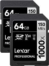 Lexar Professional 1000x 64GB (2-Pack) SDXC UHS-II Cards