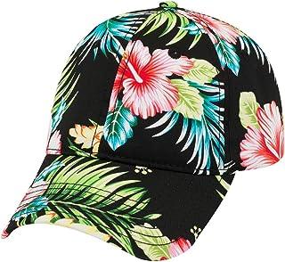 f28891df61c84 Armycrew Hawaiian Print Soft Crown Low Profile Adjustable Baseball Cap