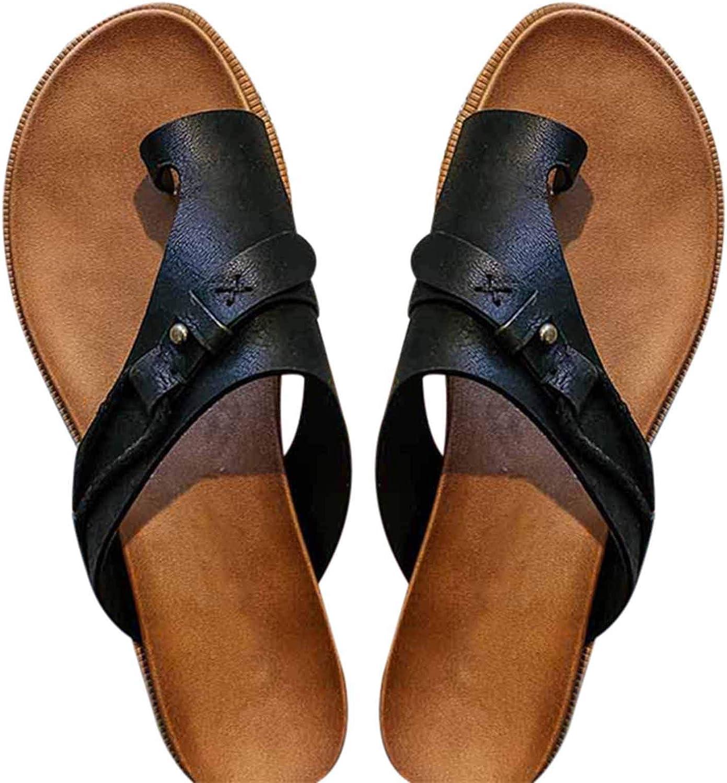 Baocai Women's Carina Sandals Flat Sandals Comfort Slide EVA Footbed Summer Beach Shoes