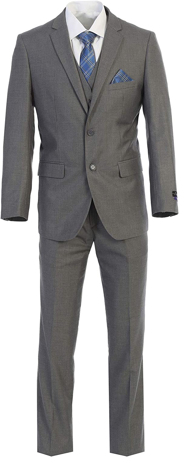 King Formal Wear Elegant Men's Modern Fit Three Piece and Two Piece Two Button Suits - Many Colors…
