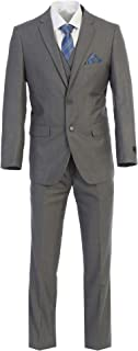 King Formal Wear Elegant Men's Modern Fit Three Piece Two Piece Two Button Suits - Many Colors…
