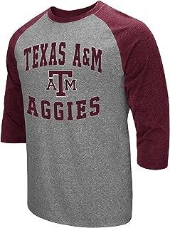 Men's NCAA-Raglan-3/4 Sleeve-Heathered-Baseball T-Shirt