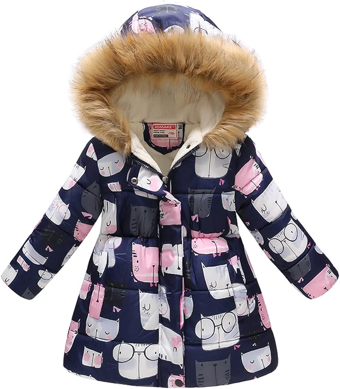 Boys And Girls Hooded Padded Max 80% OFF Jacket Ranking TOP9 Fashion Fu Cartoon Print Big