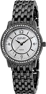 ساعة كوارتز للنساء من اوغست شتاينر، بعرض انالوج، وسوار من الستانلس ستيل، طراز AS8027BK باللون الاسود