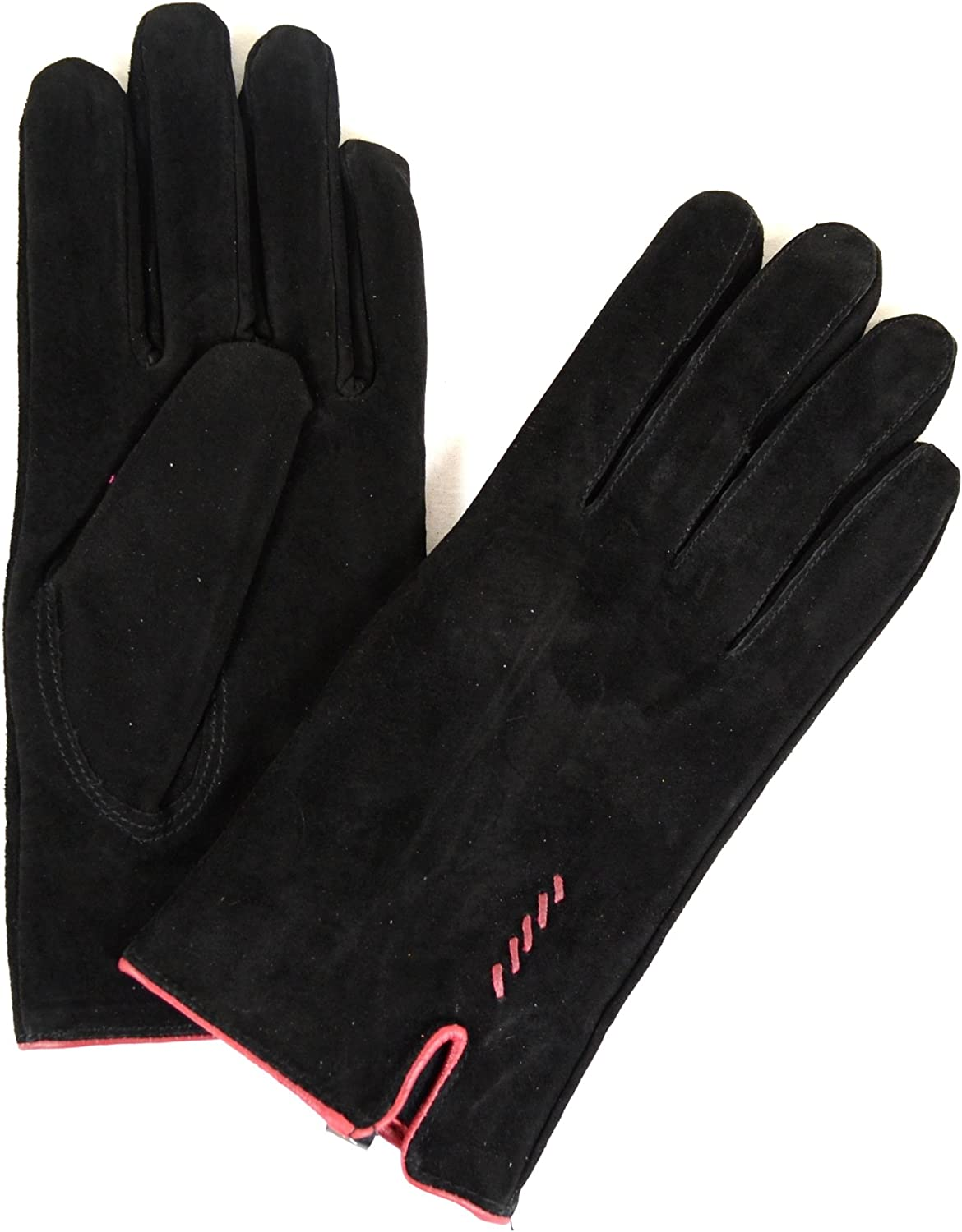Ladies Suede Gloves with Fleece Lining and Stitch Design