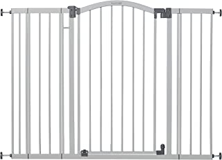 Summer Extra Tall & Wide Safety Baby Gate, Cool Gray Metal Frame � 38� Tall, Fits Openings 29.5� to 53� Wide, Baby and Pet Gate for Extra-Wide Doorways, Stairs, and Wide Spaces