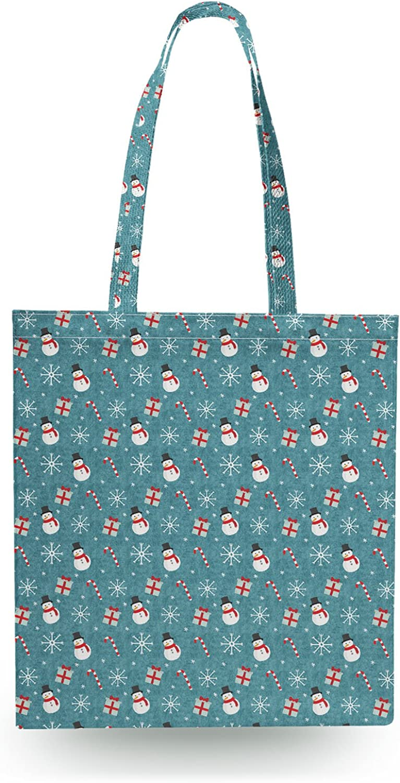 Snowmen and Candy Candy Candy Canes Canvas Tote Bag Shopper Tragetasche B01NCE3FY1  Schönheit ohne Grenzen a1a349