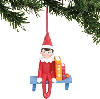 Department 56 Elf on The Shelf Sitting Hanging Ornament, 3.5