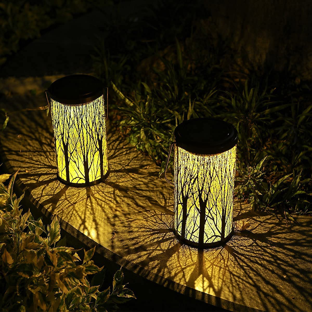 YJFWAL Solar Free Shipping Cheap Bargain Gift Lantern Lights Lig Pathway Outdoor Hanging A surprise price is realized