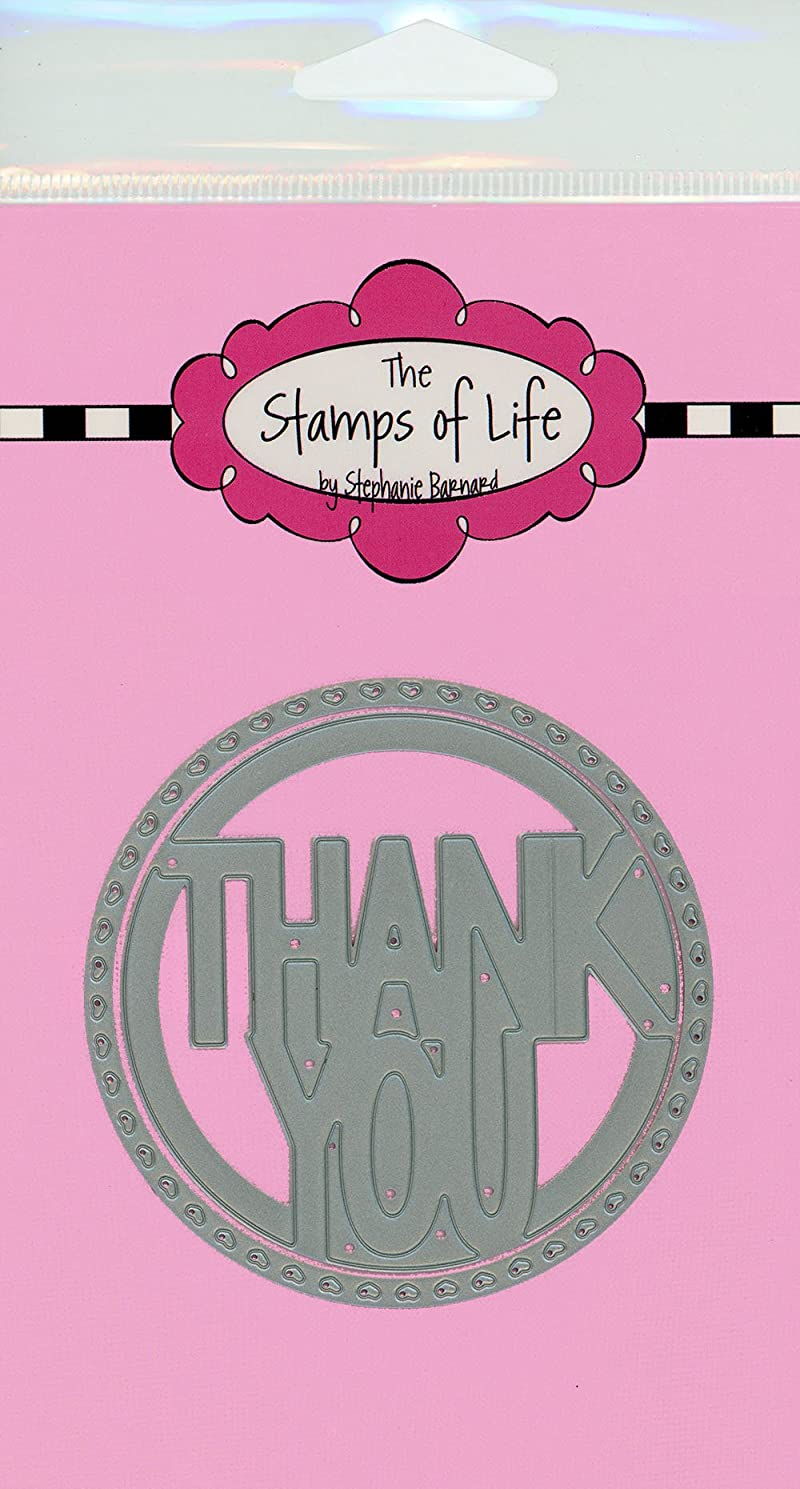 Thank You Circle Metal Die Cuts for Scrapbooking and Card-Making by The Stamps of Life - Sentiments
