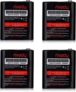 Miady Pack of 4 Two-Way Radio Rechargeable Batteries 3.6V 1000mAh for Talkabout Motorola 53615 KEBT-071A KEBT-071-B KEBT-071-C KEBT-071-D