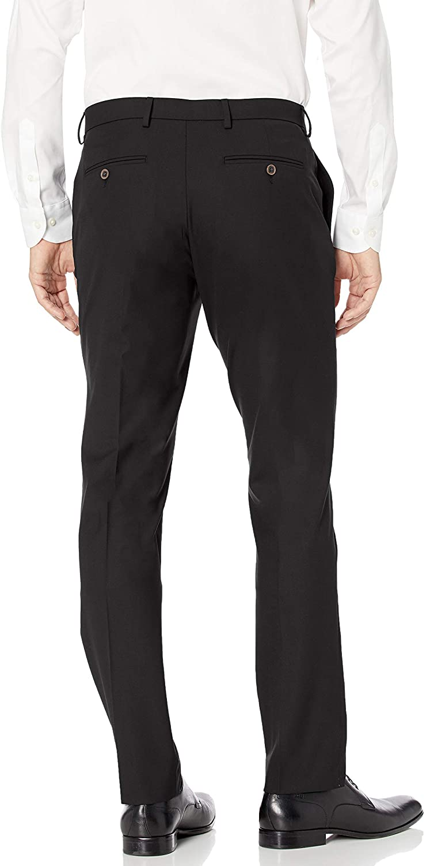 Essentials Mens Slim-fit Wrinkle-Resistant Stretch Dress Pant