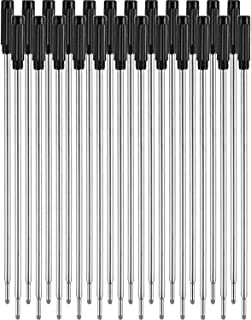 Jovitec 24 Pieces Replaceable Ballpoint Pen Refills Smooth Writing 4.5 Inch (11.6 cm) and 1 mm Medium Tip (Black)
