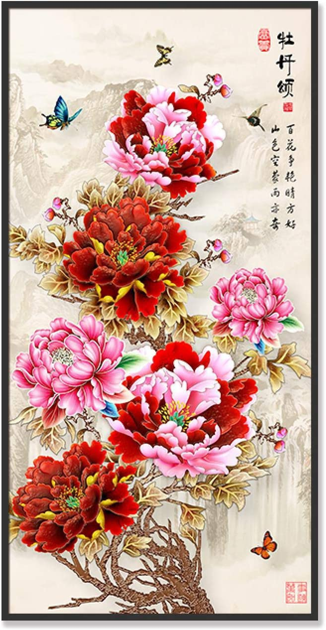 Super Fort Worth Mall special price Sunsightly Print on Canvas Vintage Style Chinese Lotus Peony wit