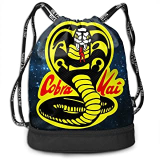 Bolsas de Cuerdas,Bolsas de Gimnasia,Mochilas Tipo Casual, Cobra Kai Bundle Backpack Fashion Tote Bag