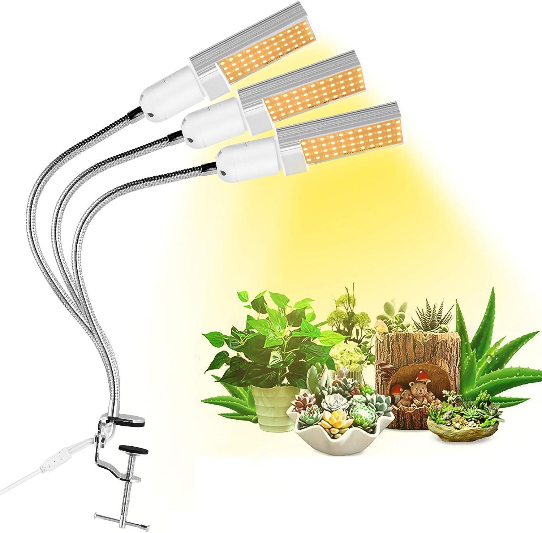 Yuehuam 世界の人気ブランド 美品 Grow Light 3-Head 132 LED L Plant Spectrum Full Growing