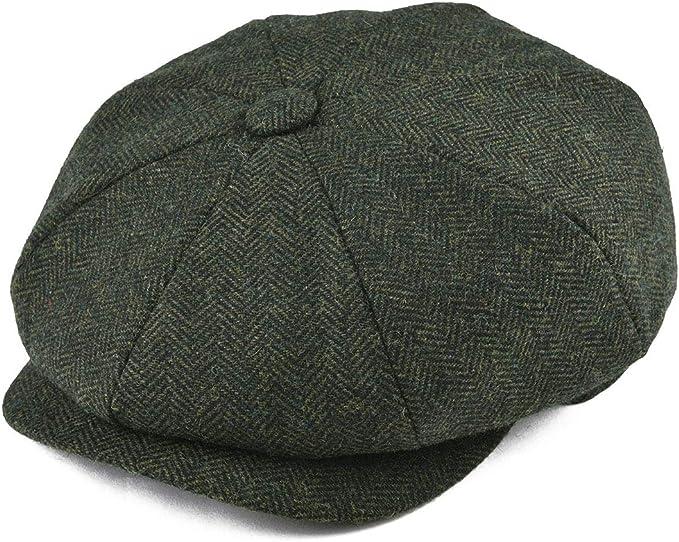 1930s Men's Clothing BOTVELA Mens 8 Piece Wool Blend Newsboy Flat Cap Herringbone Pattern in Classic 5 Colors  AT vintagedancer.com