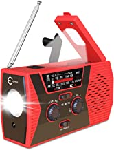 Esky Upgraded Emergency Solar Hand Crank Radio, NOAA Weather Radio with AM/FM, LED Flashlight, Reading Lamp, 2000mAh Power Bank and SOS Alarm