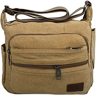 Ultramall New Fashion Canvas Bag Casual Wild Simple Shoulder Messenger Bag