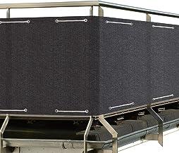 Sol Royal SolVision Balkon Sichtschutz HB2 HDPE blickdichte Balkonumspannung 90x500 cm - Anthrazit - mit Ösen und Kordel - in div. Größen & Farben