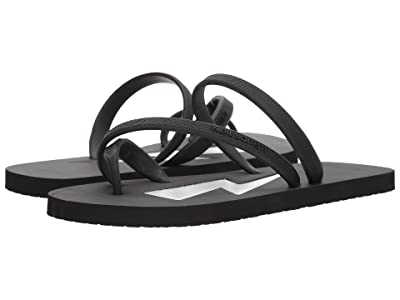 Neil Barrett Thunderbolt Flip-Flop (Black/White) Men