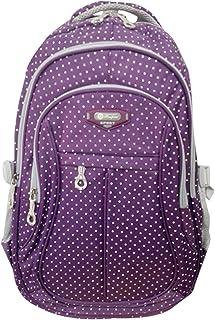 SellerFun Kid Child Girl Multipurpose Dot Backpack School Bag(Purple,Large)