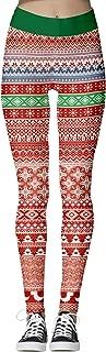 Womens Ugly Christmas Leggings Footless Cute Merry Christmas Digital Print