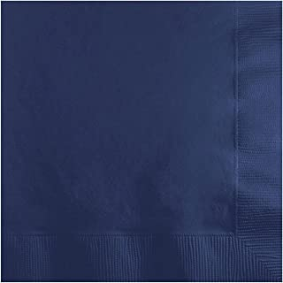 Solid Navy Beverage Napkins (100-Pack)